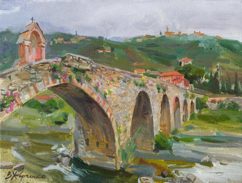 Taggia. The stone bridge