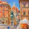 Вид на Дуомо с площади Св. Аннунциаты