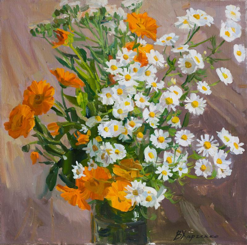 Daisies and Calendula