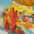 Flowers market in Jaipur