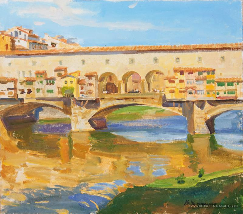 The morning Ponte Vecchio