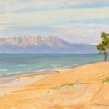 Sandy shore of Baikal