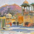 Street near Amber fort
