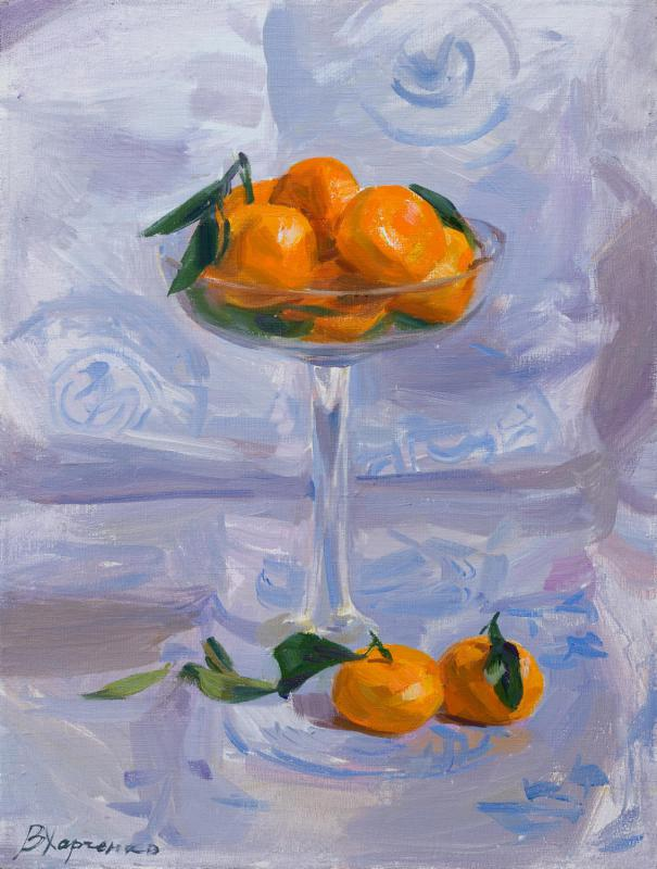 Tangerines in a vase