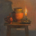 Still-life with a candle