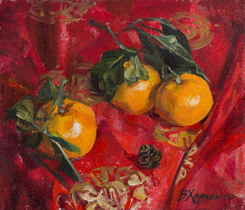Mandarins and strobile